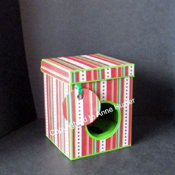 75mm Bauble/Ornament Box with Lift Back Lid Template